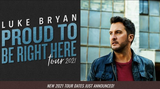 """Luke Bryan's """"Proud to be right here tour"""" 2021"""